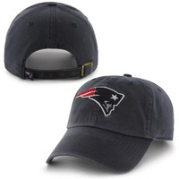 New England Patriots '47 Brand Cleanup Basic Logo Adjustable Hat - Charcoal