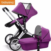 Babysing, Luxury Baby Stroller 3 in 1 for With Reversible Handle And High View