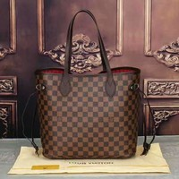LV Women Shopping Leather Tote Handbag Shoulder Bag G-LLBPFSH