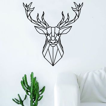 Geometric Deer V2 Animal Design Decal Sticker Wall Vinyl Decor Art Living Room Bedroom Abstract Cool Teen Hunt