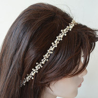Pearl Headband, Pearl bridal headband, Wedding  Accessories, Wedding headband, Hair Accessories, Hair Jewelry