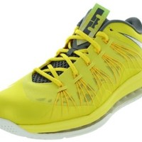 Nike Men's Air Max Lebron X Low Basketball Shoes Sonic Yellow/Sl/Cl Gry/Tr Yllw 8.5 Men US