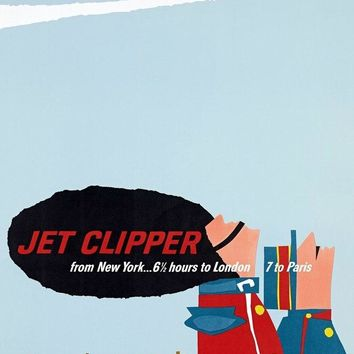 Jet Clipper Vintage New York Travel Poster Retro Decorative DIY Wall Sticker Canvas Paintings Art Home Bar Posters Decor Gift