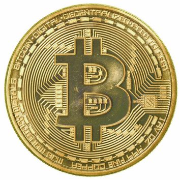 1 x RARE Gold Plated 1oz Bitcoin Coin Collectible Gift BTC Coin Art Collection
