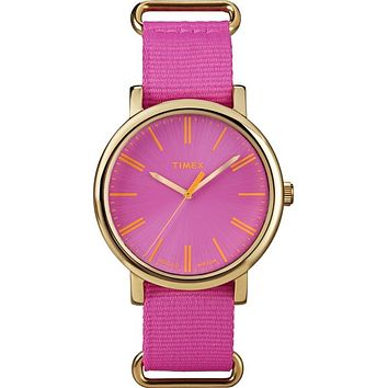 Timex Women's Pink Weekender Nylon Strap Watch