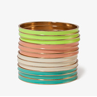 FOREVER 21 Multi-Colored Lacquered Bangle Set