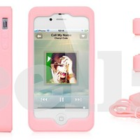 Camera Design Silicone Slim Back Case For iPhone 4 & iPhone 4S, Pink - Accessories