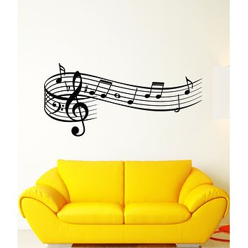 Vinyl Wall Decal Music Notes Store Gift For Musician Stickers (3446ig)