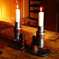 Carburator candle holders by mattjohnsondesigns on Etsy