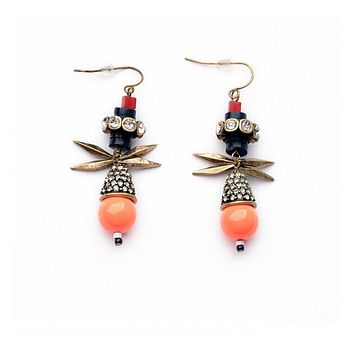 Peach On Bottom Earrings