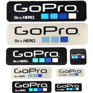 9pcs/lot Gopro Hero Camera Sticker Icon Adhesive Stickers Go Pro Logo for Gopro 5/4/3+ Accessories Helmet Selfie Stick