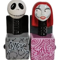 Jack and Sally In A Box Salt & Pepper Shakers