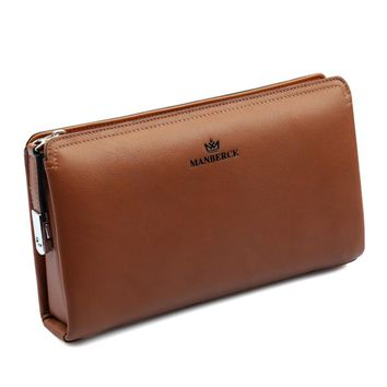 Business Genuine leather men day clutch bag,  gentlemen fashion clutch bag, designer large Cowhide leather wallet