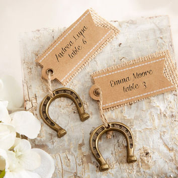 Country Horseshoe Place Card Holders
