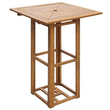 Outdoor Bar Table Acacia Wood
