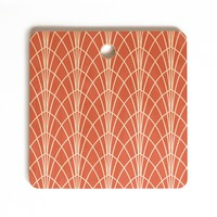Heather Dutton Arcada Persimmon Cutting Board Square