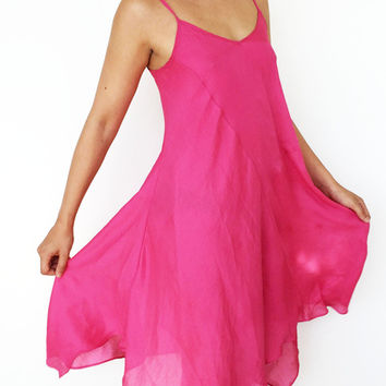 Pink Flowy Dress (Urban Outfitters)