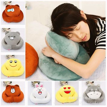 U-miss Decorative Body Pillow Travel for Airplane Office Student Octopus Napping Lunch Break Sleeping Artifact