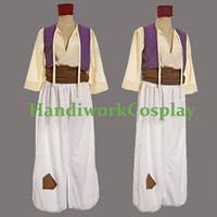 Disney Aladdin Costume,Aladdin Character Cosplay Outfit Custom Any Size