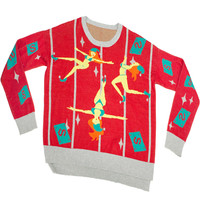 Stupid.com: Ugly Christmas Sweater in a Box, Pole Dancing Elves