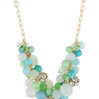 Haskell Necklace, Gold-Tone Multicolor Bead Cluster Frontal Necklace - All Fashion Jewelry - Jewelry & Watches - Macy's