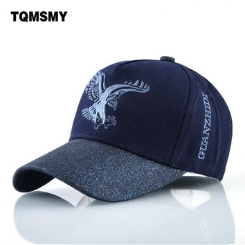 Trendy Winter Jacket TQMSMY Cotton bone embroidery eagle Baseball Caps men sun hats casual snapback cap women spring Visor hat autumn Truckers Gorros AT_92_12