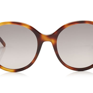 Jimmy Choo - More Havana Brown Acetate with Stud Detail Sunglasses