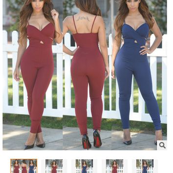 Womens Cool Edgy Sexy Slim Jumpsuit
