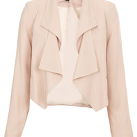 Folded Lapel Crop Jacket - Blazers - Jackets - Clothing - Topshop