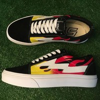 Trendsetter Vans Lightning Pattern Old Skool Flats Sneakers Sport Shoes