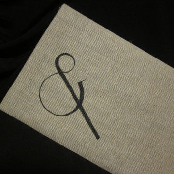 Ampersand Cotton Canvas Envelope Bag