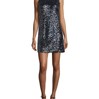 Milly Stretch Sequined A-Line Dress