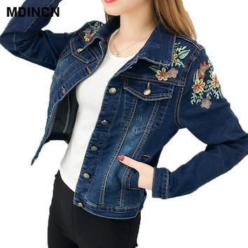 77756db2927 2019 Fashion Women Jacket High quality spring and autumn new emb