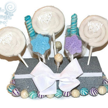 Snowflake Lollipop Centerpiece, Snowflake, Lollipop, Candy, Centerpiece, Candy Buffet, Snow, Winter, Lollipop Centerpiece, candy centerpiece