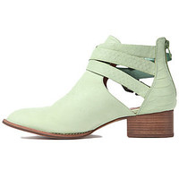 Jeffrey Campbell Boots Cut Outs in Green Snake