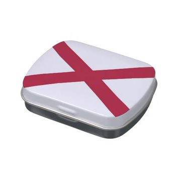 Patriotic, special candy tins with Flag of Alabama