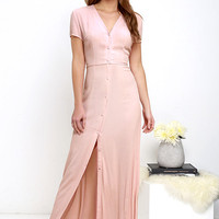 Glamorous Vida Bonita Blush Pink Maxi Dress