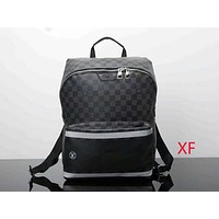 LV ladies leisure fashion tide brand backpack F-LLBPFSH Black lattice
