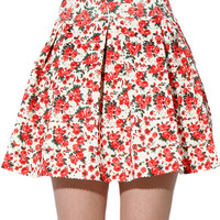 Papaya Clothing Online :: FLORAL PUFF ROSE SKATER SKIRTS
