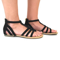 Flat Land Sandals In Black