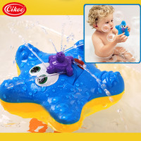 Starfish Electronic Baby Bath Toys Fountain Toy Swimming Kids Summer Toy Spraying Baby Gift Dabbling Toy Swimming Pool Children