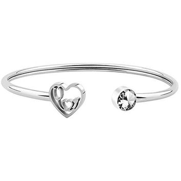 WUSUANED Dainty Heartbeat Stethoscope Cuff Bracelet Gift for Nurse Doctor Medical Student