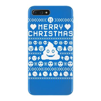 funny ugly christmas smiley emoticon iPhone 7 Plus Case