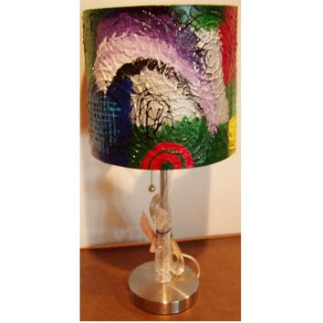 Hand Painted Lamp #13