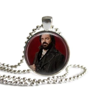 What We Do In The Shadows Lazlo 1 Inch Silver Plated Pendant Necklace Handmade