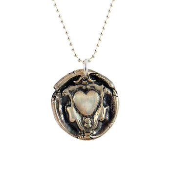 Love and Security- Enrobed Heart Wax Seal