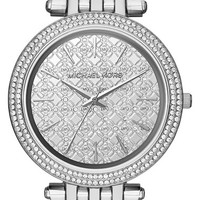 Women's Michael Kors 'Darci' Round Bracelet Watch, 39mm - Silver/ Silver