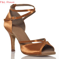 Women's Latin Dance Shoes Zapatos De Baile Ballroom Shoes Woman quality Cow suede Salsa zapatos de baile latino mujer XC-6313