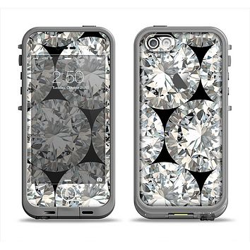 The Diamond Pattern Apple iPhone 5c LifeProof Fre Case Skin Set