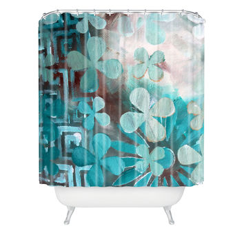 Madart Inc. Dream Land Aqua Pattern Shower Curtain